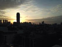 Sunrise. In the city Stock Photos