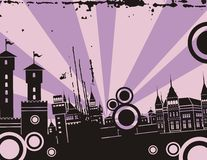 Sunrise City Background Series Stock Photo