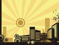 Sunrise City Background Series Stock Photography