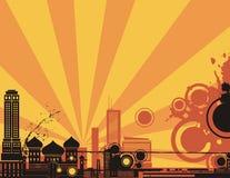 Sunrise City Background Series Royalty Free Stock Photo