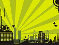 Sunrise City Background Series Royalty Free Stock Photos