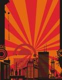Sunrise City Background Series Royalty Free Stock Photography