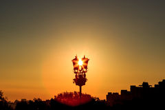 Sunrise in the city Stock Photography