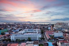 Sunrise in the city of George Town, Penang. Beautiful landscape series of sunrise and sunset collection from George Town, Penang, Malaysia Stock Photography