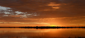 Sunrise at City Lake Stock Photography