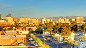 Sunrise city panning stock video footage