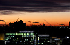 Sunrise in city Stock Images