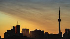 Sunrise in the city stock video footage