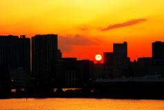 Sunrise at city of Tokyo Stock Image