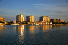 Sunrise in clearwater beach stock image