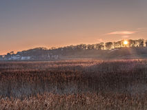 Sunrise Cley next the Sea  Norfolk Stock Image