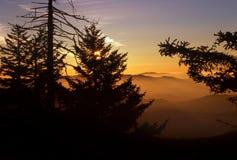 Sunrise At Clingman's Dome royalty free stock photo