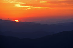 Sunrise From Clingman's Dome Stock Photography