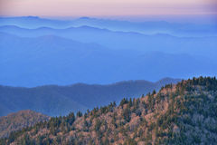 Sunrise From Clingman's Dome Stock Photo