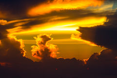 Sunrise and cloud Stock Photography