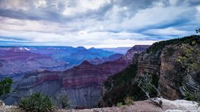 Sunrise and clouds at Grand Canyon National Park stock video footage