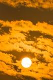Sunrise on sky Stock Images
