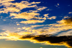 Sunrise clouds sky Royalty Free Stock Photos