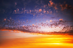 Sunrise cloudscape Stock Photography
