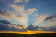 Sunrise. A cloudy sunrise in the Midwest Royalty Free Stock Photos
