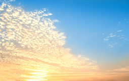 Sunrise - Cloudy sky abstract background. Smooth gradient background light blue color. royalty free stock photography