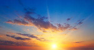 sunrise and cloudy sky Royalty Free Stock Photo