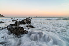 Sunrise at the coast - the Bay of Biskay Stock Image