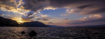Sunrise Coastline Stock Photo