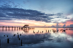 Sunrise in Cocoa, Florida Stock Photos