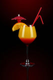 Sunrise coctail with decoration Royalty Free Stock Image