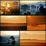 Sunrise Collage Royalty Free Stock Photography