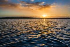 Sunrise on colliford lake, cornwall, uk Stock Photo