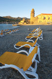 Sunrise Collioure beach Royalty Free Stock Photography