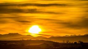 Sunrise colorado rocky mountains Royalty Free Stock Photo