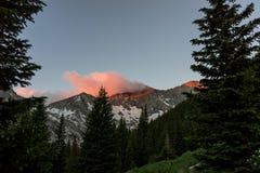 Sunrise in the Colorado Rocky Mountains, Sangre de Cristo Range Royalty Free Stock Photos