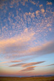 sunrise in the colored sky background royalty free stock photos