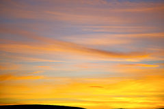 Sunrise in the colored sky   soft clouds  abstract background Stock Photos