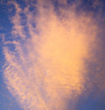sunrise in the colored sky     white soft clouds and abstract backgr Royalty Free Stock Photography