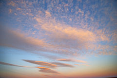 sunrise in the colored   soft clouds and abstract background Royalty Free Stock Image