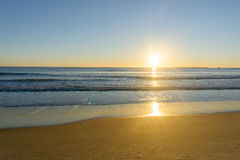 Sunrise colors over beach Royalty Free Stock Photography