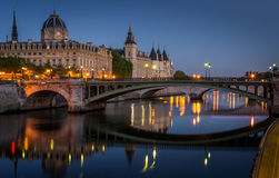 Sunrise on the Conciergerie Stock Images
