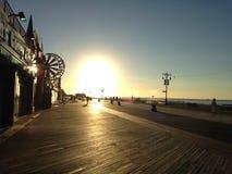 Sunrise on Coney Island Boardwalk. Sunrise on Coney Island Boardwalk in Brooklyn, New York, NY Stock Photos
