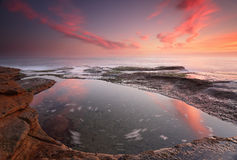 Sunrise at Coogee, Sydney Australia Stock Images