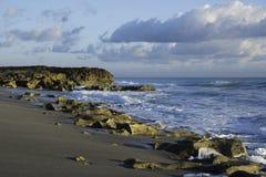 Sunrise in Coral Cove Beach Stock Photo