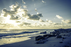 Sunrise in Coral Cove Beach Royalty Free Stock Image