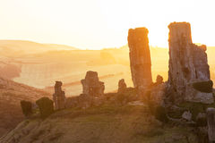 Sunrise at Corfe Castle Royalty Free Stock Images