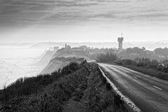 Coast of the Basque cornice. Sunrise on the cornice of the Basque coast royalty free stock photo