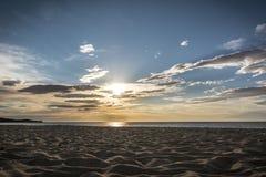 Sunrise at Costa Rei, Sardinia Stock Photography