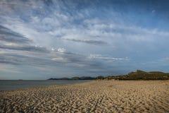 Sunrise at Costa Rei, Sardinia royalty free stock photography