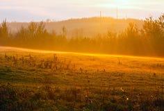 Sunrise country autumn landscape Stock Photos
